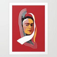Abstract Frida Kahlo print