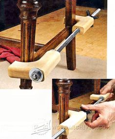 DIY Chair Clamp - Clamp and Clamping Tips, Jigs and Fixtures - Woodwork, Woodworking, Woodworking Plans, Woodworking Projects