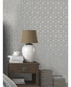 This contemporary Rochester Geometric Wallpaper features a geometric cube pattern with contrasting finishes for added depth and interest. Free UK delivery available