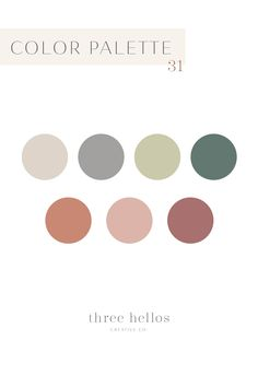 One of my new favorite color palettes. It's very versatile and feels cozy and luxurious. The perfect home color palette, branding color palette, design inspiration. Farmhouse neutral color palette, Three Hellos Creative Co. Portfolio Webdesign, 1001 Palettes, Palette Design, Interior Design Color Schemes, Interior Colors, Family Photo Colors, Green Colour Palette, Neutral Palette, Vintage Colour Palette