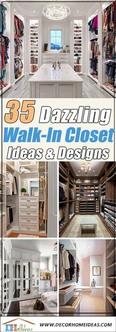 Have you ever dreamed of a beautiful and stylish walk in closet in your home? Take a look at these fabulous ideas and designs and update your closet. Walk In Closet Ikea, Make A Closet, Walk In Closet Design, Bedroom Closet Design, Closet Designs, Master Closet, Bathroom Interior Design, Master Bedroom, Home Organization Hacks