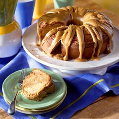 Drizzle this sweet caramel pound cake with homemade caramel frosting for an irresistible dessert.