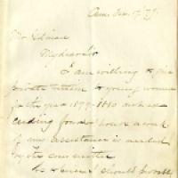 February 17 1879 letter from Professor W.E. Byerly to Arthur Gilman_courtesy of Schlesinger Library
