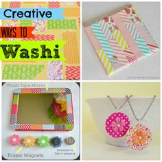 Creative Ways to Washi - tons of ideas~