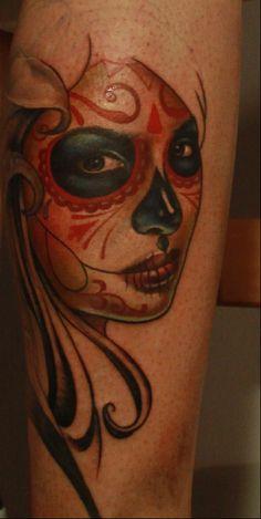 Muerte tattoo in progress by nailone.deviantart.com on @deviantART
