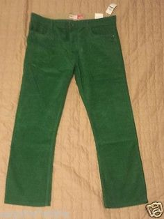 men pants: #Izod men corduroy green color straight pants 36 x 30 NWT withing our EBAY store at  http://stores.ebay.com/esquirestore