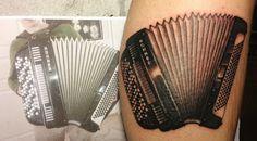 Nina's Tattoo Diary: Lantern, spaceships, accordion and a lady