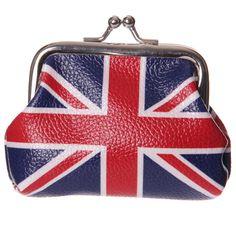 UNION JACK Flag. Small PURSE. British. UK. Great Britain. United Kingdom. GB