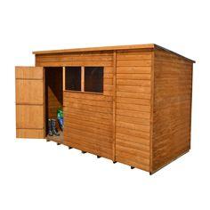 forest garden 10 x 6 overlap pent wooden garden workshop shed
