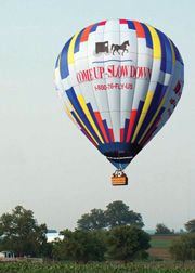 Balloon Rides Daily by United States Hot Air Balloon Team  in Pennsylvania Dutch Country- Lancaster, PA. A once in a lifetime experience. Relax and enjoy the exhilaration of floating effortlessly over Lancaster County's picturesque Amish farmland.