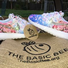 """8.5 Bling Nike Roshe Cherry Blossom ASK FOR OTHER PRICING OPTIONS AND PLACES TO PURCHASE!  ☑️ Over $50 worth of crystals in color """"crystal clear"""" on each outside swoosh.   ☑️ More sizes available, just ask!  ☑️ Ships usually within 3 days via my website, or 7 days via posh.   ☑️ Every crystal is hand placed to ensure the best longevity and quality in the market! I strongly believe in quality over quantity!  ☑️ Nike shoe and Swarovski crystals are both purchased straight from the retailers…"""