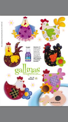 Kids Crafts, Felt Crafts, Easter Crafts, Fabric Crafts, Sewing Crafts, Diy And Crafts, Sewing Projects, Arts And Crafts, Chicken Crafts