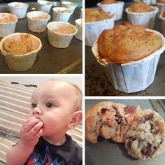 Quick and simple banana, apple and cinnamon muffins, perfect for baby led weaning and traditional weaning methods - ready in under 20 minutes!
