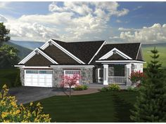 ePlans Ranch House Plan – Larger Than Expected Charming Ranch– 1867 Square Feet and 3 Bedrooms from ePlans – House Plan Code HWEPL76179