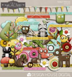 Forest Friends - Page Kit