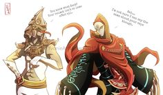 The Legend of Zelda Zant and Ghirahim Swap
