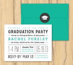 Graduation Invitations by Rachel Pursley, via Behance