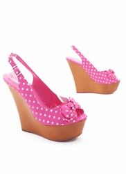 Pink Polka Dot Wedges!