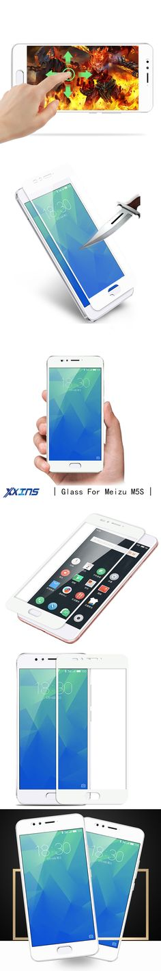 Xxins Full cover Screen protect film For Meizu M5S mobile phone smartphone case Exquisite design Tempered GLASS