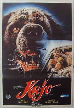 Cujo 1983 Dee Wallace Stephen King Horror Vintage Movie Poster from Turkey