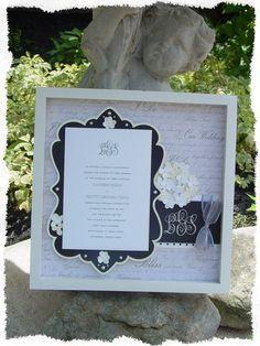 12x12 Wedding Shadowbox
