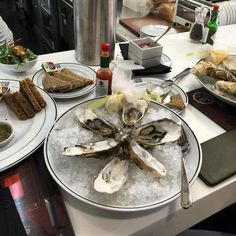 People say #airtravel has lost its #glamour but I say it's all in the #airport outlet one avails oneself of.  #oysters #travel #travelblogger #London #halfcentury #birthdayweek http://ift.tt/1SEVzFR