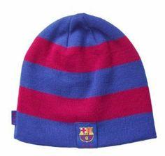 FCB Barcelona Stripes Sports Soccer Futbol Beanie- Red and Blue Rhinox.   15.99 f1511f7ece6bf
