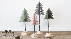 DIY Christmas trees from paper. Make homemade Christmas tree decorations from paper crafts by Søstrene Grene