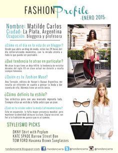 #FashionProfile de Enero: Conocé más sobre Matilde Carlos, argentina creadora del blog de moda Tendenciera.