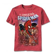 There he goes swinging over his beloved Manhattan Spiderman TShirt for $16.95