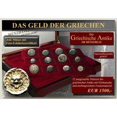 DAS GELD DER GRIECHISCHEN ANTIKE: Diverse Nominale 4.Jh.v.Chr.-1.Jh.v.Chr. Weitere Informationen zu diesem Ritter… #coins #numismatics