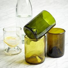 Wine Glasses from wine bottles. Recycled Wine Punt Glassware Set - 12 oz. #WestElm @Jodi Wissing Leggio