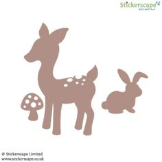 Classic deer and rabbit wall sticker set