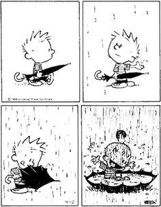 Calvin e a chuva