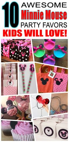 Great minnie mouse party favors kids will love. Fun and cool minnie mouse birthday party favor ideas for children. Easy goody bags, treat bags, gifts and more for boys and girls. Get the best minnie mouse birthday party favors any child would love to take home. Loot bags, loot boxes, goodie bags, candy and more for minnie mouse party celebrations.