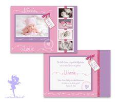 Babykarte Geburtskarte Winnie von Feenstaub auf DaWanda.com