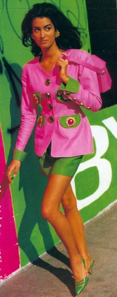 1980s Pink and Green