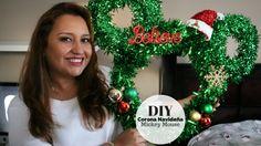 Easy DIY - Mickey Mouse Christmas Wreath   Corona Navideña de Mickey Mouse