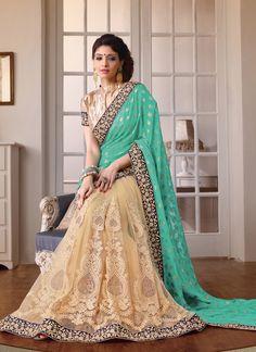 Multi Colored Wedding Wear Indian Saree  Visit: http://www.indiansareestore.com/sarees/party-wear-sarees
