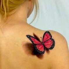 Butterfly tattoo realism