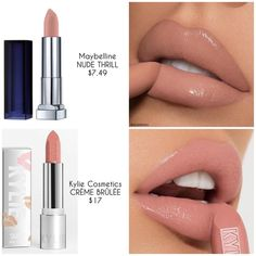 Maybelline New York Color Sensational Nude Lipstick Matte Lipstick, Nude Thrill, Ounce (Pack of Dupe Makeup, Lipstick Dupes, Nude Lipstick, Red Lipsticks, Skin Makeup, Lipstick Shades, Makeup Brushes, Makeup Kit, Orange Lipstick