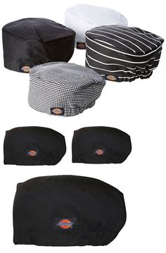 f46f103cad2 Chef Hats 50938  3Pack Dickies Chef Hat - Chef Beanie With Elastic On Back  Dc451