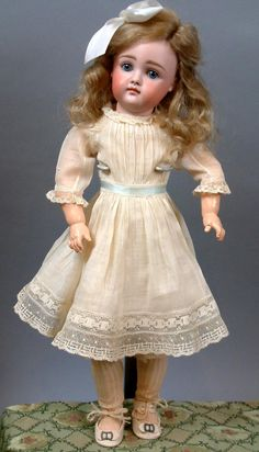 "16.5"" Early Kestner With Closed-Mouth In Antique Costume Early Body from kathylibratysantiques on Ruby Lane"