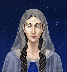Anaire by ThaliaTook on DeviantArt ~ Anairë of the Noldor, wife of Fingolfin and best friend to Eärwen, which is why she stayed behind in Aman when the Noldor rebelled.  Her name means 'Most Holy'