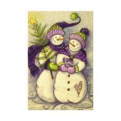 Christmas Paintings On Canvas | Christmas Canvas Prints, Christmas Wrapped Canvas Photo Print