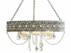 Non electric chandelier for over a tub uses tea lights Hanging candle chandelier non electric