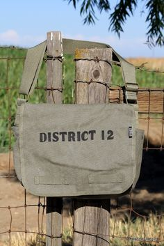 Angel Stitch Embroidery: District 12 Military Style Messenger Bag - great idea for teens at library