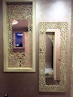 Laser cut mirror & partition