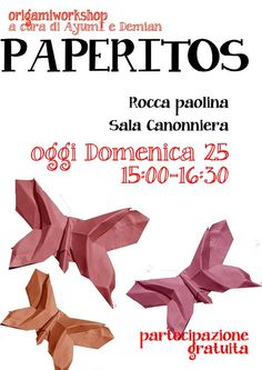 Locandina Workshop di Origami Origami Playbill - by Ayumi and Demian Origami, Workshop, Creative, Atelier, Paper Folding