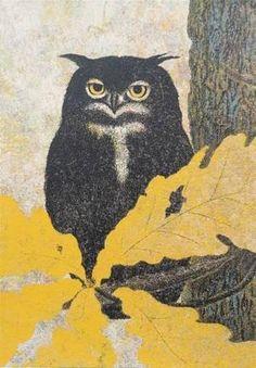 Katsuda Yukio: No 118- Owl — 梟 - Japanese Art Open Database